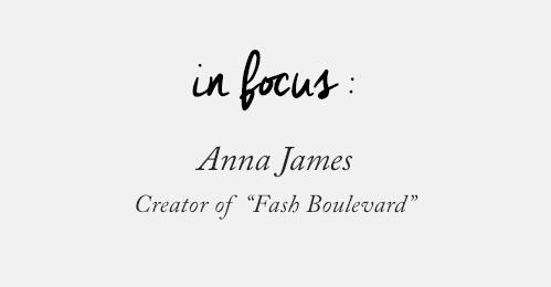 Anna James creator of Flash Boulevard
