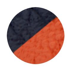 Navy and Orange