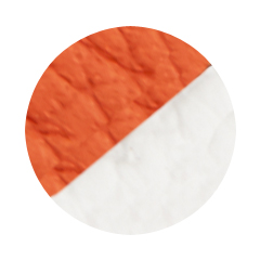Orange and White