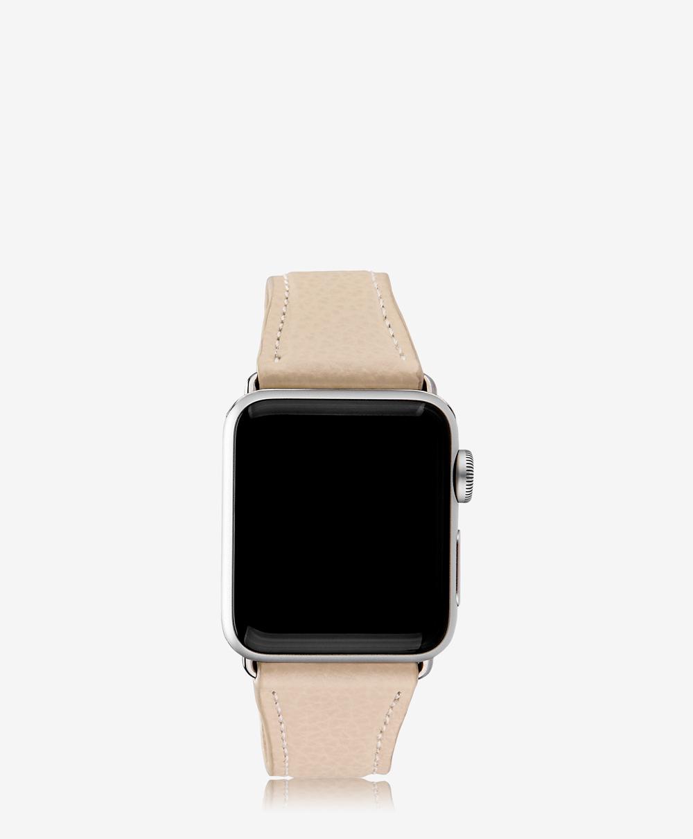 38mm Apple Watch Band Almond Pebble Grain AWS-38MS-FLO-ALM