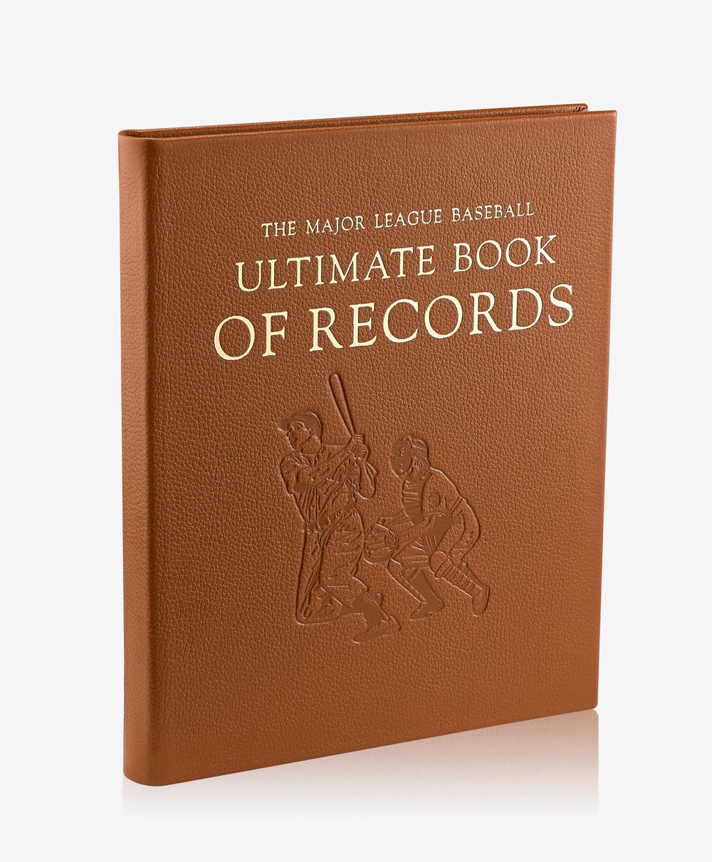The Major League Baseball Ultimate Book of Records Full Grain Leather BSB-BULT-FLO-SDL