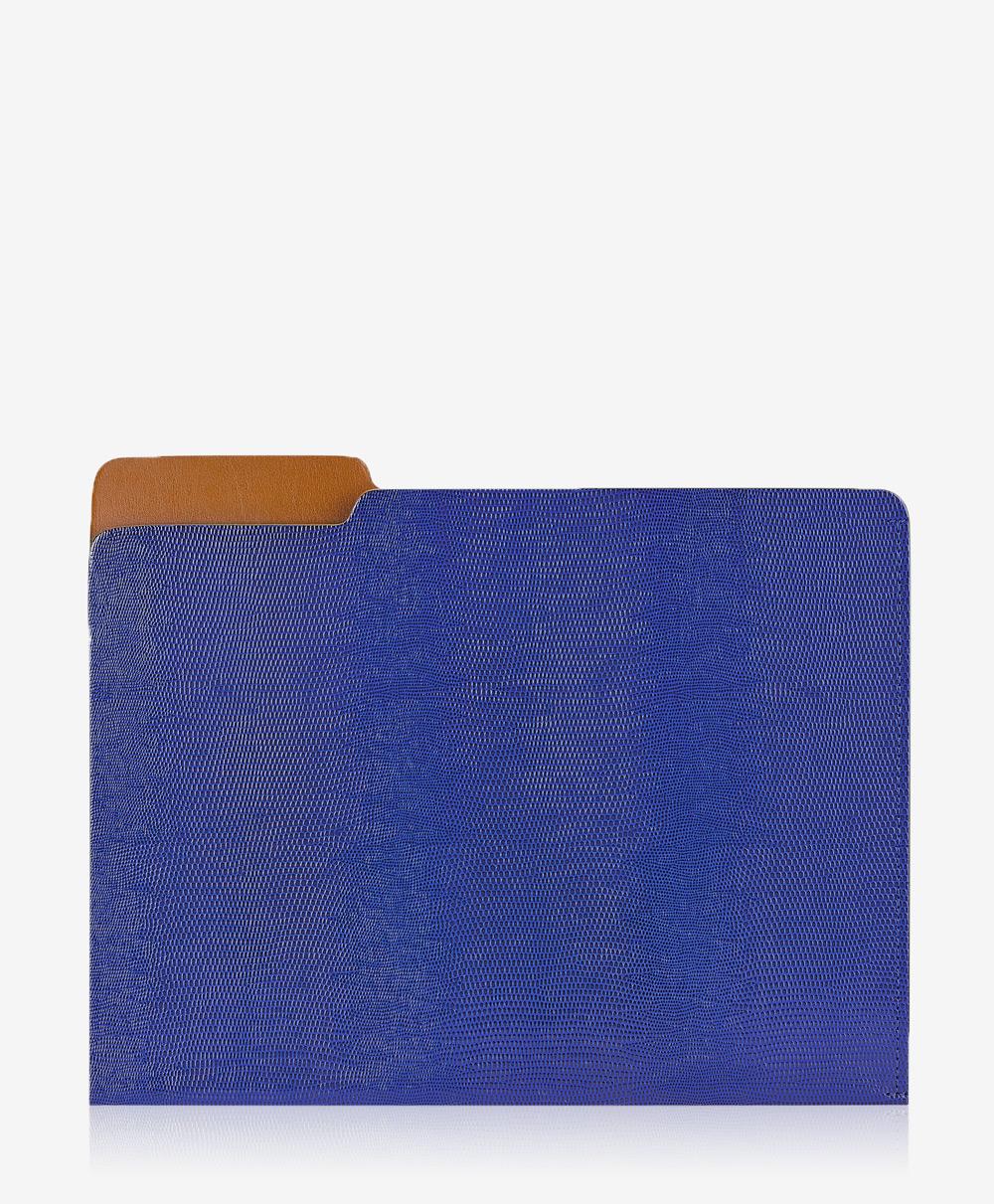 Carlo File Folder Blue Embossed CAR-LIZ-BLU