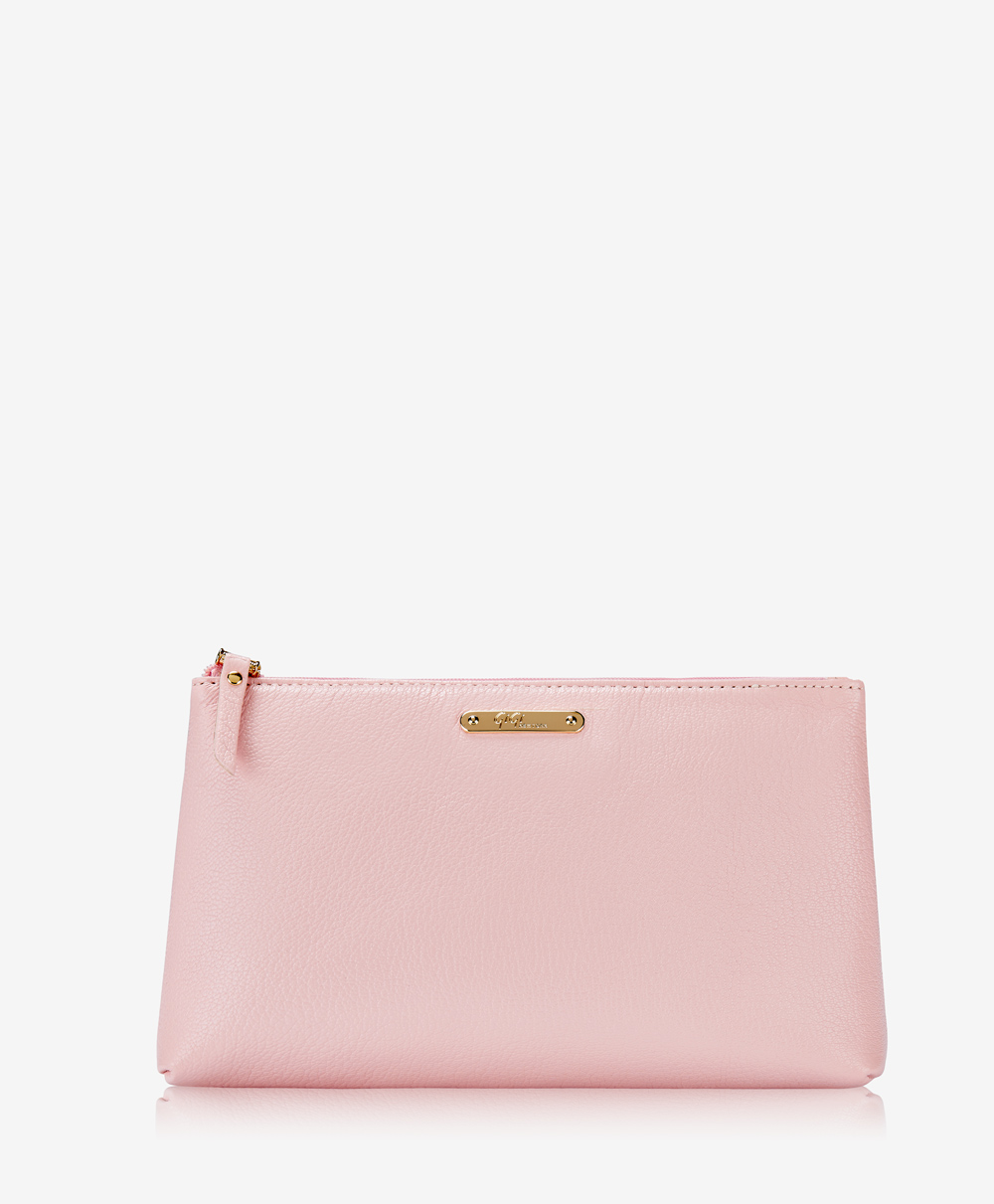 Large Cosmetic Case Petal Pink Goatskin CBM-GSA-LPK