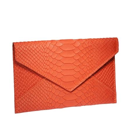 Orange Medium Envelope  - Embossed Python