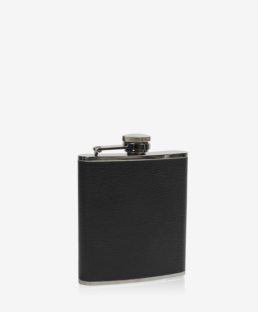 6 oz Flask Black Traditional Leather FSK-TR1-BLK
