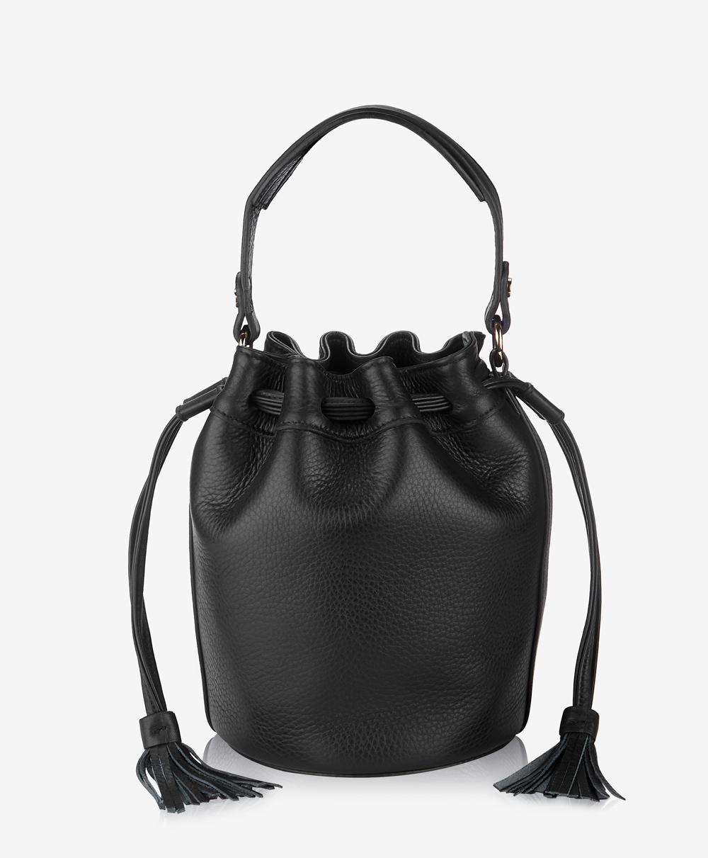 Genevieve Bucket Bag Black Napa Luxe GWN-LUX-BLK