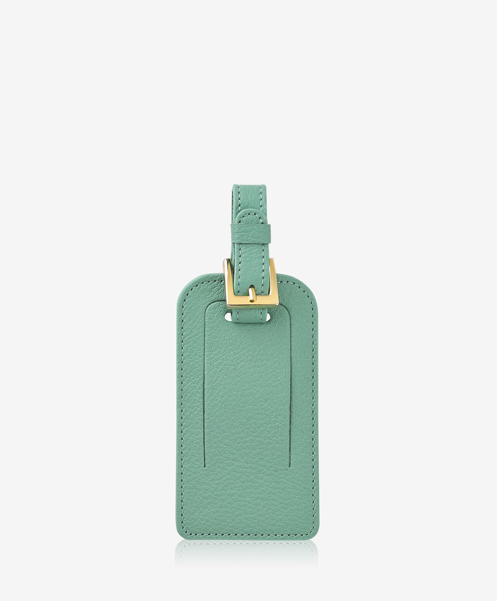 Luggage Tag Robin's Egg Blue Goatskin