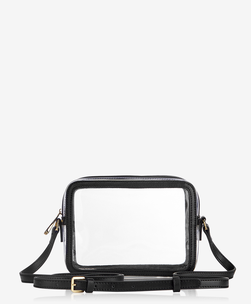 Collins Crossbody Handbag Clear with Black Vachetta Trim