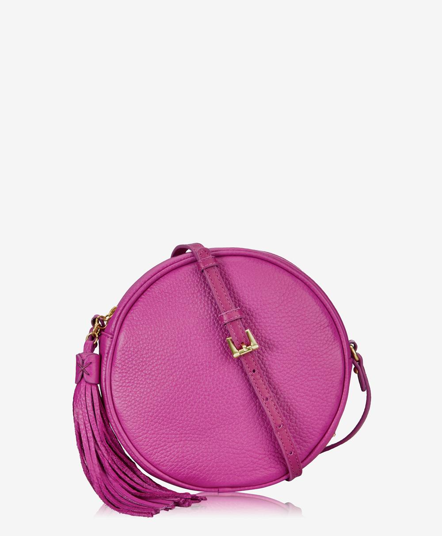 Zoey Crossbody Handbag Azalea Pink Pebble Grain Leather
